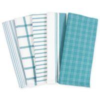 KAF Home Kitchen Towels in Teal (Set of 5)
