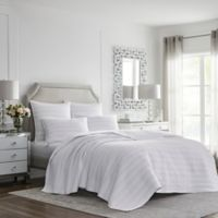 Silver Linings Twin Quilt in White
