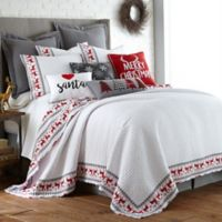 Levtex Home Rudolph Twin Quilt Set in Red/White