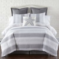 Levtex Home Nantucket Reversible Full/Queen Duvet Cover Set in Grey