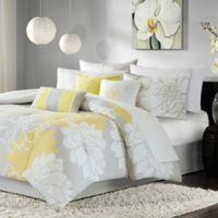 Madison Park Lola 6-Piece Twin/Twin XL Comforter Set in Yellow/Grey