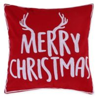 "Levtex Home Rudolph ""Merry Christmas"" Square Throw Pilllow in Red"