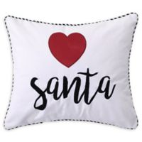 Levtex Home Rudolph Heart Santa Square Throw Pillow in White