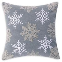 Levtex Home Rudolph Snowflake Square Throw Pillow in Grey