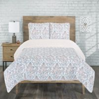 Raelyn Reversible Twin Quilt Set in Rose