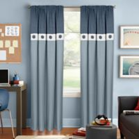 Colordrift Wallace 84-Inch Rod Pocket Room Darkening Window Curtain Panel in Blue