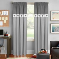 Colordrift Wallace 84-Inch Rod Pocket Room Darkening Window Curtain Panel in Grey