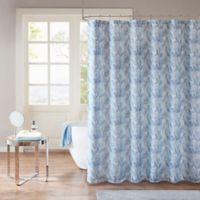 Madison Park Mahi Shower Curtain in Aqua/Indigo