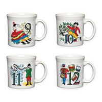 Fiesta® Twelve Days of Christmas Day 9-12 Mugs in White (Set of 4)