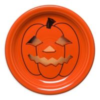 Fiesta® Halloween Glowing Pumpkin Appetizer Plate in Orange