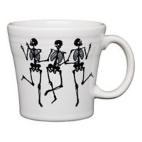 Fiesta® Halloween Trio of Skeletons Tapered Mug in White