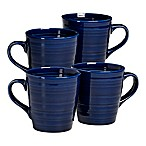Over and Back® Centric Coffee Mugs in Blue (Set of 4)