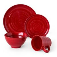Over and Back® Centric 16-Piece Dinnerware Set in Red