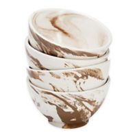 Over and Back® Dune Marble Bowls in Brown/White (Set of 4)