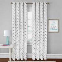 Colordrift Heart 63-Inch Rod Pocket Room Darkening Window Curtain Panel in White