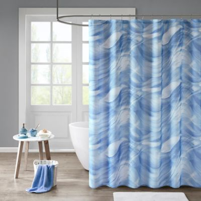 Madison Park Marina Shower Curtain In Blue