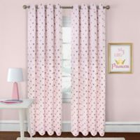Colordrift Heart 84-Inch Rod Pocket Room Darkening Window Curtain Panel in Pink