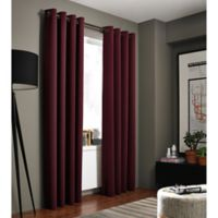 Kenneth Cole Reaction Home Gotham 108-Inch Grommet Room Darkening Window Curtain Panel in Bordeaux