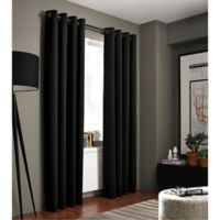 Kenneth Cole Reaction Home Gotham 108-Inch Grommet Room Darkening Window Curtain Panel in Black