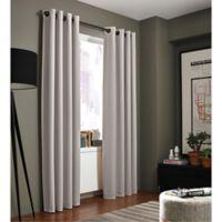 Kenneth Cole Reaction Home Gotham 84-Inch Grommet Room Darkening Window Curtain Panel in Silver