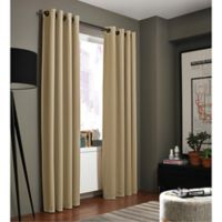 Kenneth Cole Reaction Home Gotham 84-Inch Grommet Room Darkening Window Curtain Panel in Taupe