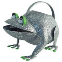 Boston International Croaky Frog Watering Can in Silver/Green