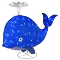 National Tree Company Spouting Blue Whale with LED Lights