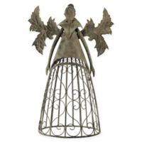 Design Toscano Tempest, the Metal Garden Trellis Fairy Sculpture in Grey