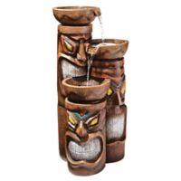 Design TOSCANO® Tiki 3-Bowl Cascading Fountain