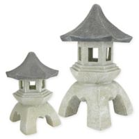 Design TOSCANO® Pagoda Lantern Outdoor Sculptures (Set of 2)