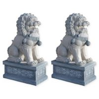 Design Toscano Giant Foo Dog of the Forbidden City Statues (Set of 2)