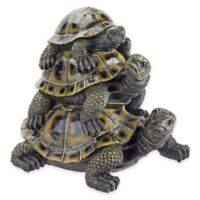 Design Toscano Three's A Crowd Outdoor Stacked Turtle Statue