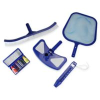 Pool Central 5-Piece Cleaning Maintenance Set with Test Kit