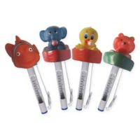 Pool Central Swimming Pool Animal Thermometers with Cords (Set of 4)