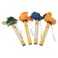 Pool Central Coastal Swimming Pool Thermometers with Cords (Set of 4)