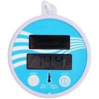 Pool Central Solar-Powered Floating Digital Pool Thermometer in Purple