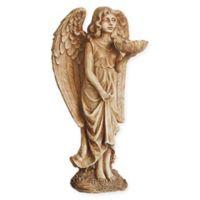 Northlight Angel Bird Feeder Statue in Brown/Beige