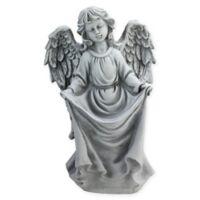 Northlight 16.5-Inch Angel Bird Feeder Statue in Grey