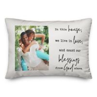 House of Blessings Indoor/Outdoor Oblong Throw Pillow