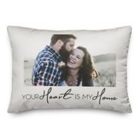 Heart My Home Indoor/Outdoor Oblong Throw Pillow