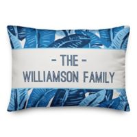 Designs Direct Painted Palms Indoor/Outdoor Oblong Throw Pillow in Blue