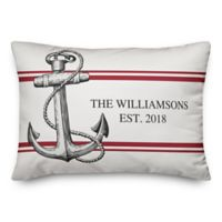 Designs Direct Coastal Anchor Indoor/Outdoor Oblong Throw Pillow