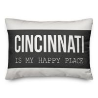 Designs Direct Home is My Happy Place Indoor/Outdoor Oblong Throw Pillow