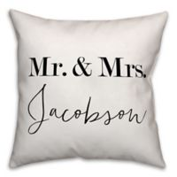 Designs Direct Mr. & Mrs. Indoor/Outdoor Square Throw Pillow