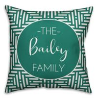 Designs Direct Aztec-Inspired Indoor/Outdoor Throw Pillow in Teal