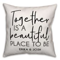 Designs Direct Beautiful Place Indoor/Outdoor Square Throw Pillow