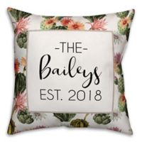 Designs Direct Cactus Floral Indoor/Outdoor Square Throw Pillow