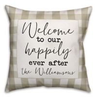 Designs Direct Happily Ever After Indoor/Outdoor Square Throw Pillow