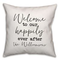 Designs Direct Happily Ever After Indoor/Outdoor Square Throw Pillow in Tan