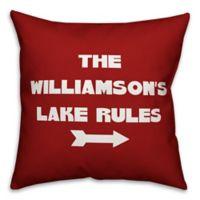 Designs Direct Lake Rules Monogram Indoor/Outdoor Square Pillow